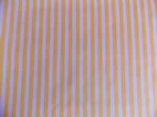 Yellow with White Stripe 100% Cotton Fabric